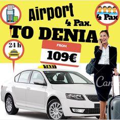 ALICANTE AIRPORT TO DENIA FOR 4 PAX. www.alicante-airporttransfers.com/en/