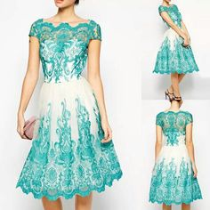This lace dress is so pretty.