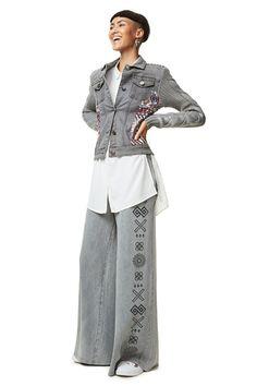 Graue Jeansjacke - Exotic Silver | Desigual.com