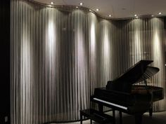 metal mesh curtain with lighting