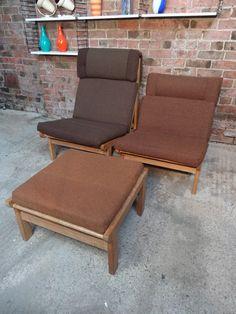 1968 Vintage danisch Bernt Petersen  ''The Rag''chair, price is for the set!! #danish #petersen #set #pairplusone #cabinetmaker #68 #northern #design #wood #brown #vintage #retro #euvintage