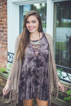 This fringe cardigan is perfect for brunch, shopping, you name it! Shop it at Entourage TODAY!