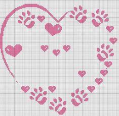 Cross Stitch Heart, Cross Stitch Cards, Cross Stitching, C2c Crochet, Crochet Videos, Dog Themed Food, Minnie Baby, Crochet Curtains, Charts And Graphs