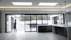 Sliding Glass Door, Sliding Doors, Glass Doors, Office Interior Design, Interior Decorating, House Extension Design, Windows And Doors, Garage Door Windows, Patio Doors