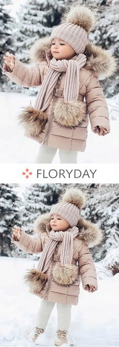 Girls' Sweet Solid Hooded Coats - My favorite children's fashion list So Cute Baby, Baby Kind, My Baby Girl, Baby Love, Cute Kids, Cute Babies, Little Girl Fashion, Toddler Fashion, Kids Fashion