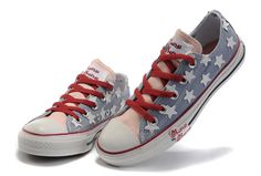 2012 Collective Version All Star Converse American(US) Flag Low Top Baby  Blue Canvas b8273a83d402