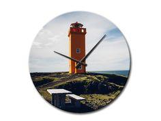 Leuchtturm Wanduhr