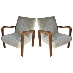 Pair Thonet Bentwood Armchairs | From a unique collection of antique and modern armchairs at https://www.1stdibs.com/furniture/seating/armchairs/