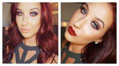 Fall Smokey Eye | Pop Of Teal Makeup Tutorial. love this girls tutorials. love the eye look minus the dark lips.