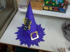 Τα μικιά μου , arts kindergarten: Αποκριάτικο καπέλο μάγισσας