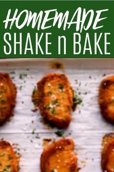 Feb 2020 - These Shake N Bake Pork Chops are a homemade version of the classic dish you loved as a kid. Pork chops are coated in a tasty breadcrumb mixture and baked until golden brown and delicious. Shake And Bake Pork Chop Recipe, Quick Pork Chop Recipes, Homemade Shake And Bake, Pork Recipes, Shake N Bake Chicken, Spinach Recipes, Chicken Recipes, Healthy Pork Chops, Breaded Baked Pork Chops