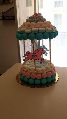 torta giostra per compleanni e battesimi