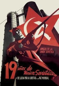 Art Print Nineteen Years Of The Soviet Union And Fight For Freedom Worl DB-19636