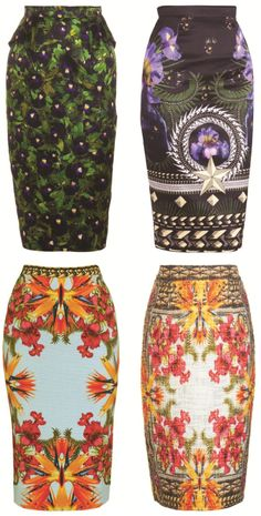 pencil skirts with colorful patterns; I should make some in plus sizes! //// I was gifted a lovely African print fabric, this will be it's future. Fashion Prints, Love Fashion, Fashion Outfits, Womens Fashion, African Inspired Fashion, African Fashion, African Attire, African Dress, Vogue