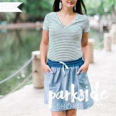 Sew Caroline Parkside Shorts and Skirt Sewing Pattern - The Parkside Shorts…
