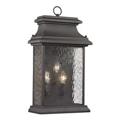 Forged Provincial 3 Light Sconce
