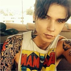 "Andy Biersack on Instagram: ""Did a shoot this morning with the rad... ❤ liked on Polyvore featuring andy biersack, black veil brides, bvb, bands and images"