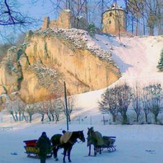 under the castle in Ojców ♣♣ Poland Poland People, Poland Country, Krakow Poland, 10 Picture, Winter Scenes, Places To Go, Beautiful Places, National Parks, Europe
