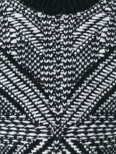 Monochrome knitting with black & white pattern; knitwear design detail; knitted textiles for fashion // Les Hommes