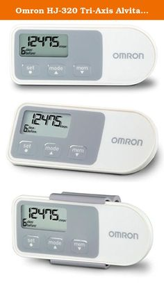 Omron HJ-320 Tri-Axis Alvita Pedometer (white). The Omron Alvita Pedometer with Two Tracking Modes (HJ-320) may just be the motivation you need to take those extra steps toward better health and increased energy. Inside is Omron's validated Tri-Axis technology which makes this tracker accurate no matter what position it's in. With the Alvita Pedometer, you'll know precisely how far you've progressed, pushing you to do better day after day.
