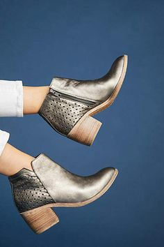 b69c9ca44d0 Anthropologie Silent D Opena Perforated Booties - Gold Ankle Boots  The  forward-thinking creatives
