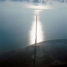 Space Shuttle Discovery Launch in 1984. I remember my school held an assembly to watch it on live TV. Amazing.