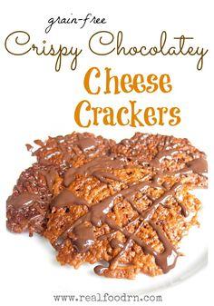 Crispy Chocolate Cheese Crackers (grain-free)