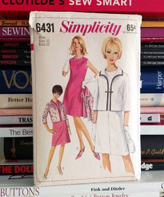 1966 Simplicity Pattern  6431-Misses' A-Line by PaperWardrobesEtc
