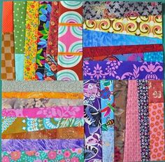 Can't get enough of these scrappy blocks!.