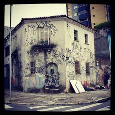 Abandoned house at Barao do Bananal Street, Sao Paulo (Brazil).