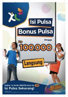 Isi Pulsa Bonus Pulsa hingga Rp. 100.000! Daftar di *123*500#!