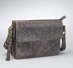 GTM/CZY-22 Distressed Buffalo Leather Shoulder Clutch (Available November 30, 2016)