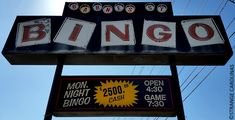 "This killer sign can be found in front of Barnes Street Bingo/Frankie's Beach Bingo in Reidsville. I couldn't really find much online about the establishment, other than the following review on Facebook: ""Riding around this area now come out come out come out boy's let's get it...""  http://www.strangecarolinas.com/2015/06/barnes-street-bingo-sign-reidsville-nc.html"