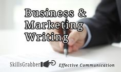 Business and Marketing Writing on SkillsGrabber.com