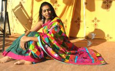 PATCH WORK WITH KUTCH WORK SAREE