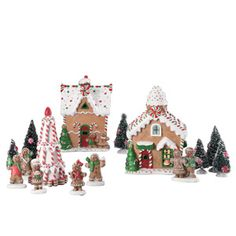Holiday Time 15-Piece Gingerbread House Christmas Decoration