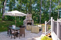 Love the outdoor fireplace! #ModelHome