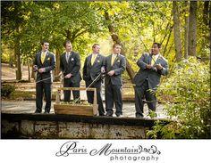Hightower Falls Wedding Paris Mountain Photography groomsmen