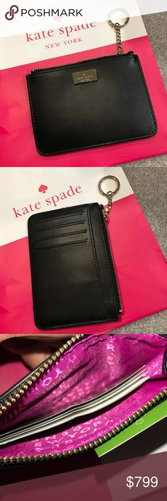 Kate Spade Bitsy NWT Black/Sweetheart Pink Kate Spade Bitsy NWT Black/Sweetheart Pink ❌NO TRADES 🔴OFFERS SHOULD BE MADE THROUGH POSH OFFER FEATURE 🔴PRICES NOT DISCUSSED IN COMMENTS  🔴FEEL FREE TO ASK ANY QUESTIONS kate spade Accessories Key & Card Holders
