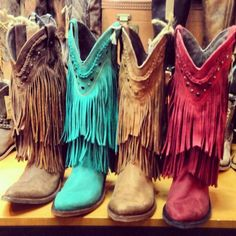 LIBERTY BLACK FRINGE COWBOY BOOTS $349.95  I NEEDDDDDDDDDDDD THESE