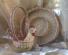 Поделка изделие Плетение Мои работы Трубочки бумажные фото 6 Paper Weaving, Basket Weaving, Wicker Baskets, Easter, Knitting, Decor, Wicker, Tejidos, Decorating