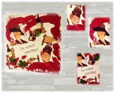 Mischtechniken - Acrylbild auf Leinwand *IN VINO VERITAS* - ein Designerstück von Elkes-Kreativstuebchen bei DaWanda