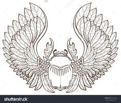 stock-vector-scarab-beetle-sketch-symbol-of-pharaoh-tattoo-345560405.jpg (1500×1285)