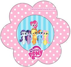My Little Pony: Mini Kit para Imprimir Gratis.
