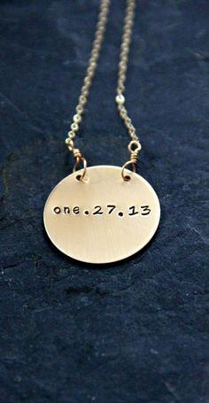Calendar necklace. $49.50.
