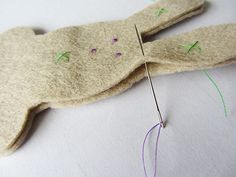 Tips for Sewing with Felt - plus creating different eyes.