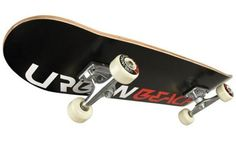 awesome  Urban Beach Pro Maple Deck Skateboard - Urban Black
