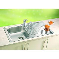 CHIUVETA DE BUCATARIE ALVEUS COLLECTION DOTTO 40 , INCASTRABILA DIN INOX - Iak Sink, Home Decor, Sink Tops, Vessel Sink, Decoration Home, Room Decor, Vanity Basin, Sinks, Home Interior Design
