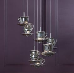 Tea Cups Pendant Light by Litecraft