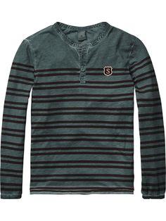 Oil Wash Grandad T-Shirt | Jersey l/s tee's & tops | Boy's Clothing at Scotch & Soda